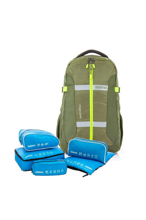 Magna Backpack 01 Olive + 5-in-1 Travel Pouch
