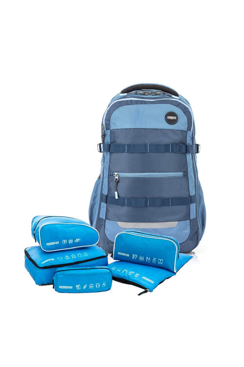 Magna Backpack 03 Vintage Blue + 5-in-1 Travel Pouch