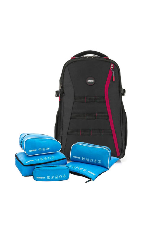 Magna Backpack 04 Black + 5-in-1 Travel Pouch