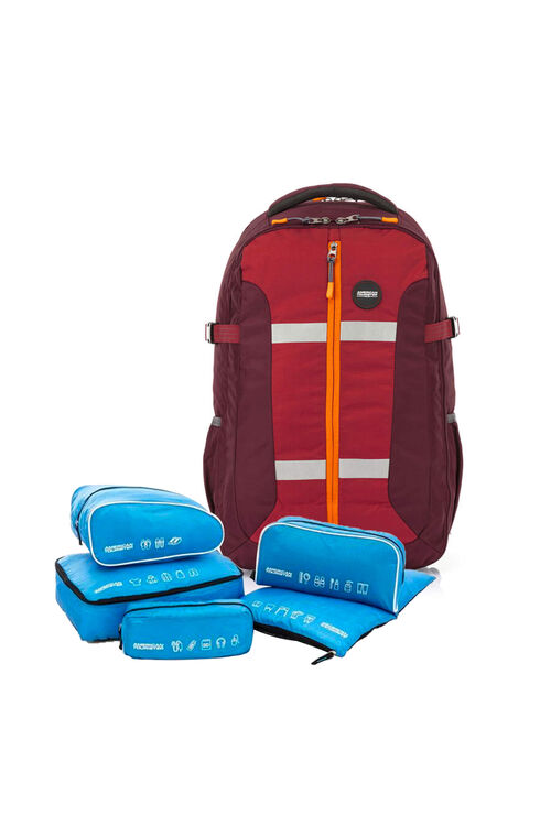 Magna Backpack 01 Red + 5-in-1 Travel Pouch
