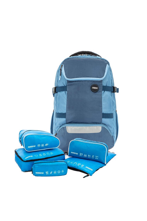 Magna Backpack 02 Vintage Blue + 5-in-1 Travel Pouch