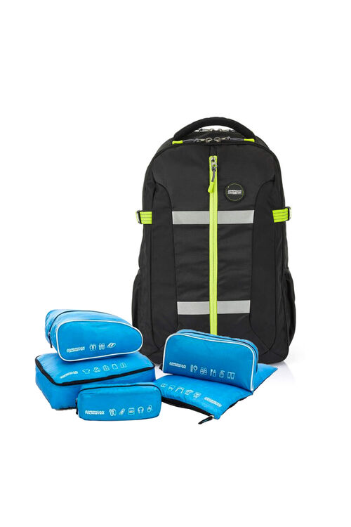 Magna Backpack 01 Black Yellow + 5-in-1 Travel Pouch