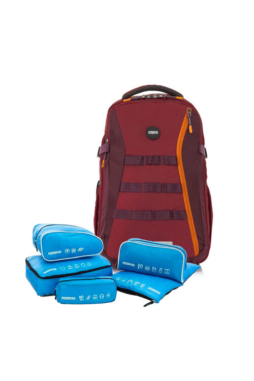 Magna Backpack 04 Red + 5-in-1 Travel Pouch